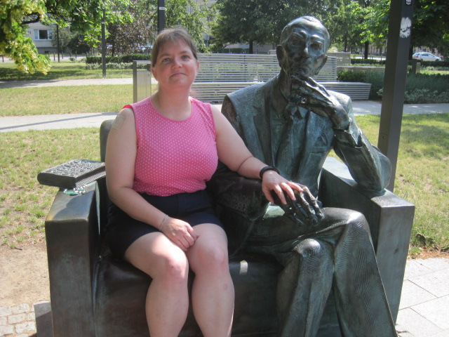 Erin at Jan Karski Memorial